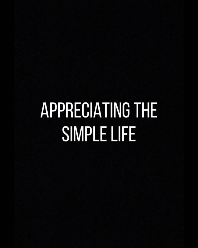 Appreciate the simple things in life. #tadayoliving